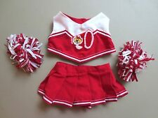 Build a Bear CLOTHES Red Cheerleader-Pom Poms     Lot A32
