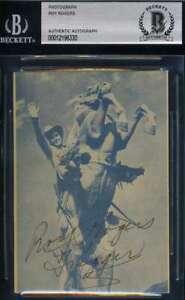 Roy Rogers BAS Beckett Coa Signed Vintage Photo Autograph