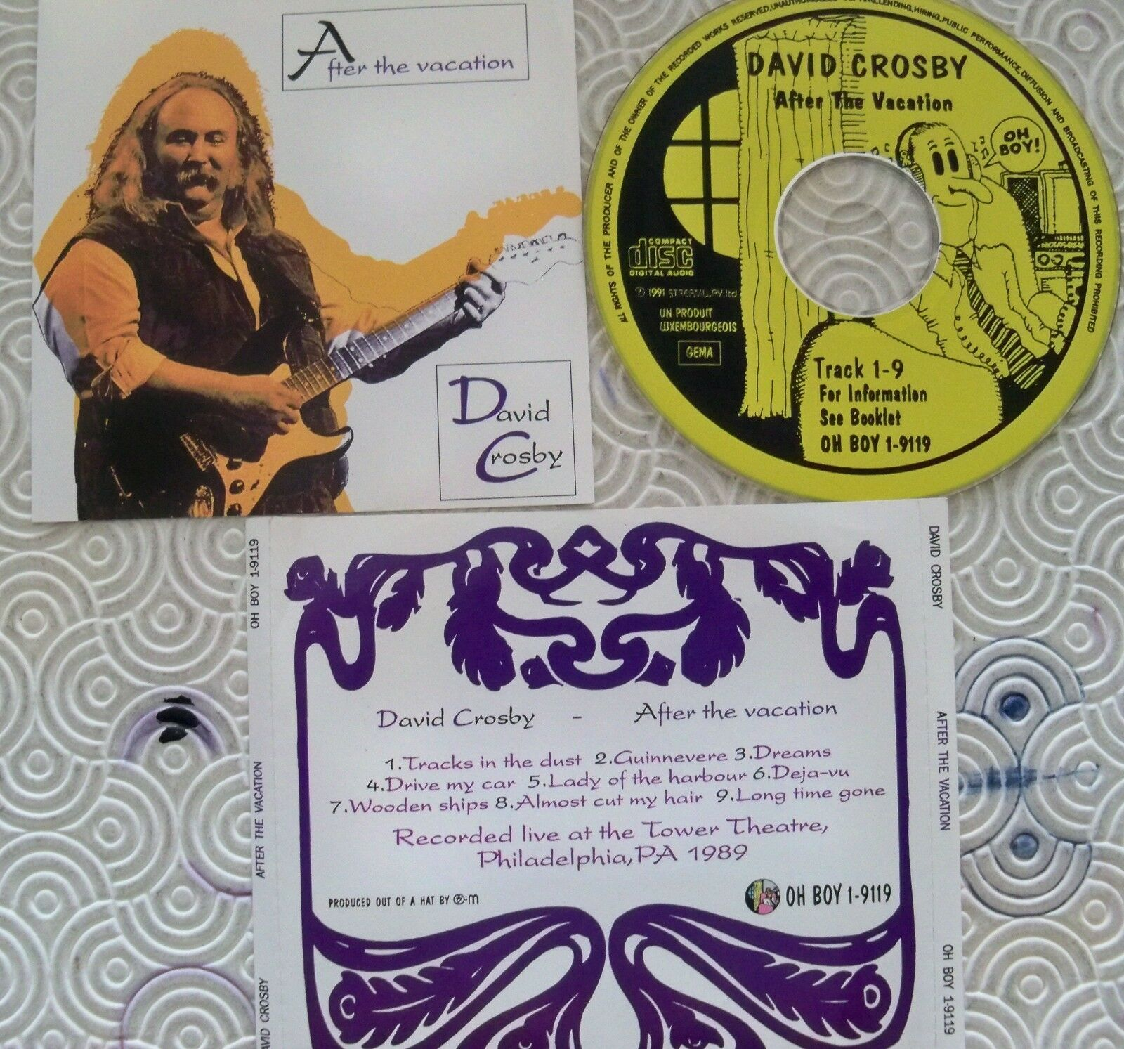 David CROSBY  after the Vacation  CD RARE LIVE Tower Theatre Philadelphia 1989