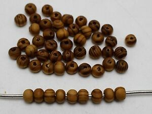500-Natural-Pattern-Round-Wood-Beads-Wooden-6mm
