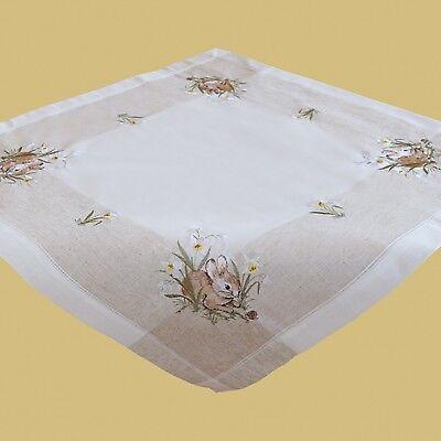 STICKEREI Tischdecke OSTERN Tischdeckchen OSTERHASE Osterdeckchen Deckchen 40cm