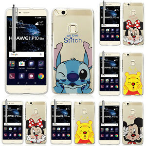 100% authentic 41d90 c2c30 Details about Case Silicone Cover TPU Ultra-Fine Drawing animated pretty  Huawei P10 Lite 5.2