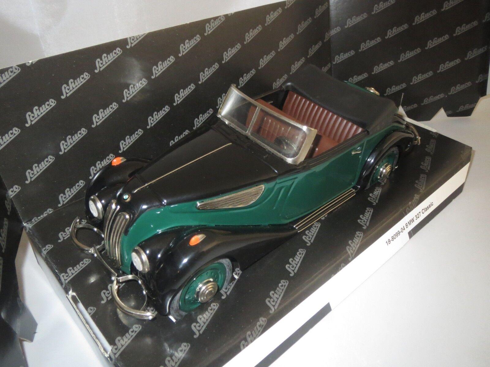 SCHUCO 00012 BMW 327 Convertible (noir-vert) 1 18 neuf dans sa boîte
