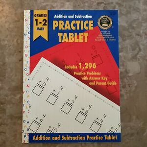 Addition and Subtraction Practice Tablet Grades 1-2 Math ...