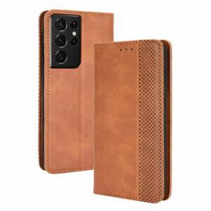 Etui pour Samsung Galaxy S21 Ultra (SM-G998) marron Etui Housse Pochette