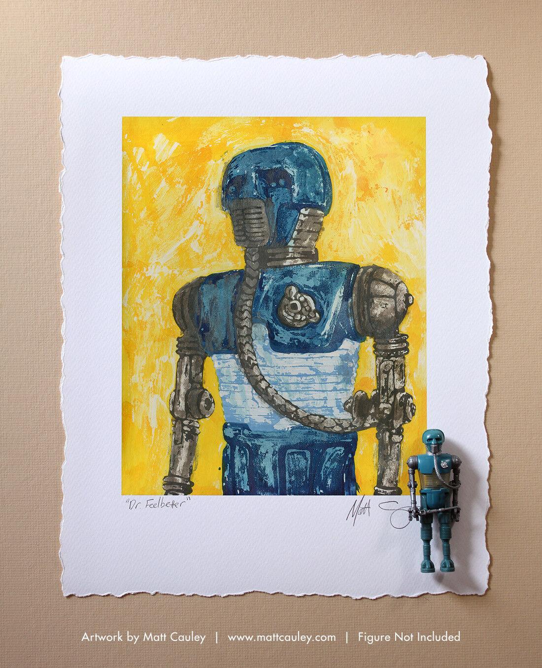 2-1B Vintage Kenner Star Wars Action Figure ORIGINAL ART PRINT 3.75 21B