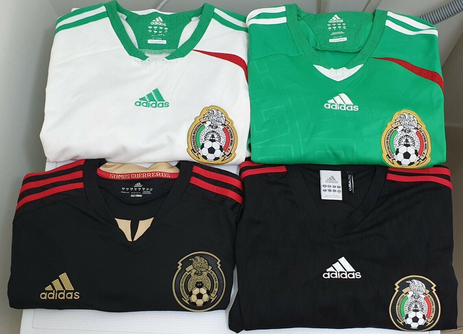 4x ADIDAS Mexico nazionale squadra Soccer Jerseys Diuominiione MEDIUM Authentic & HTF