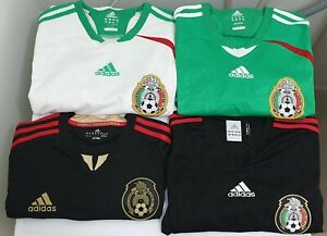 4x-ADIDAS-Mexico-National-Team-Soccer-Jerseys-SIZE-MEDIUM-Authentic-amp-HTF