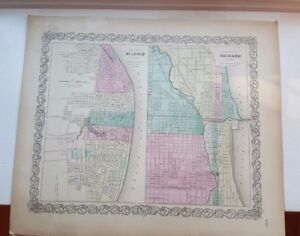Details about VERY NICE 1856 Colored Map - ST. LOUIS & CHICAGO - Colton's on italy on world map, bangkok on world map, dead sea on world map, amazon river on world map, washington dc on world map, vienna on world map, 1893 chicago world's fair map, cape town world map, chicago on north america map, new york city on world map, moscow on world map, istanbul on world map, england on world map, chicago on the water, london on world map, madrid world map, chicago on state map, chicago on usa map, chicago on map of world, hawaii on world map,