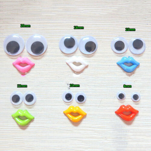 100Pcs//500Pcs Eyelashes Wiggly Wobbly Googly Eyes Scrapbooking Crafts B$TB