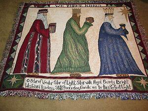 We-Three-Kings-Christmas-Star-Wise-Men-Tapestry-Afghan-Throw