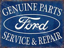 Vintage Garage, Ford Car Parts Service & Repair Advertising Small Metal/Tin Sign