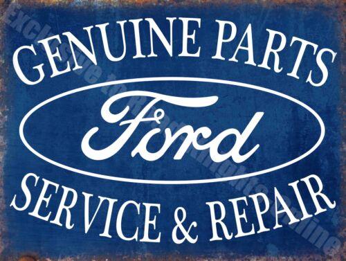 Ford Car Parts Service /& Repair Advertising Small Metal Tin Sign Vintage Garage