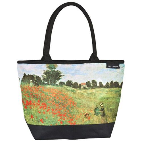 Borsa da donna HENKEL Borsa Shopper casual tipo grande arte Monet papavero Blumenfeld