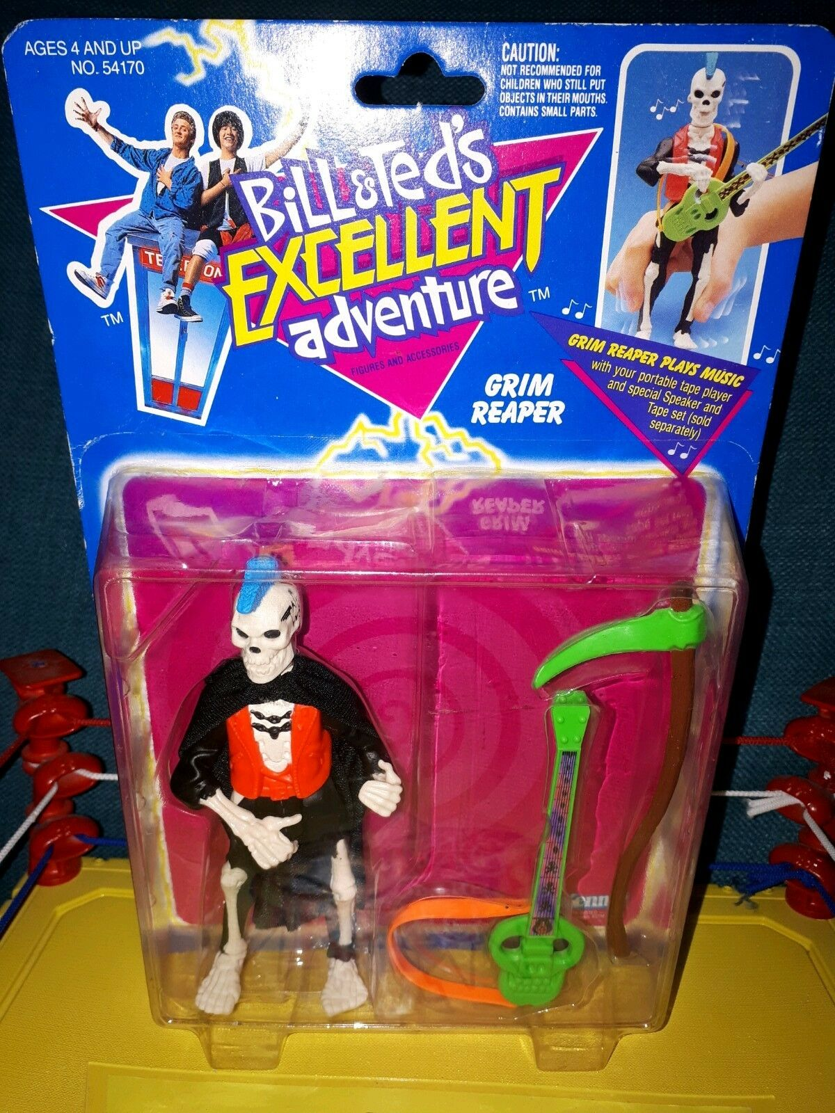 BILL AND TED'S EXCELLENT ADVENTURE - GRIM REAPER ACTION FIGURE KENNER 1991 NEW
