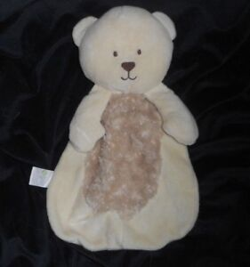 Details About 14 Baby Gear Creme Teddy Bear Security Blanket Stuffed Animal Plush Lovey Toy