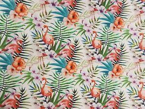 SéRieux Substances Coton Panama Liaison Digital Pression Déco Patchwork Rideau Flamingo Nr27-afficher Le Titre D'origine Prix RéDuctions