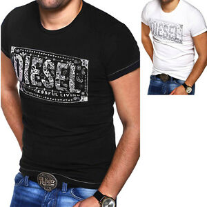 Image is loading Diesel-Mens-T-Shirt-T-Nuente-Polo-Shirt-