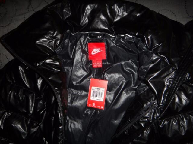 5d750cd24150 Women s Nike Puffer Cascade Down Poncho Coat Black 010 M for sale ...