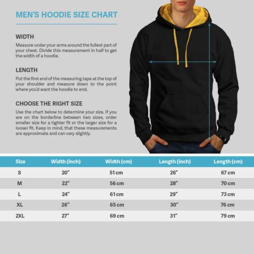 Wellcoda Wave Stylish Fashion Mens Contrast Hoodie 90s Rave Casual Jumper