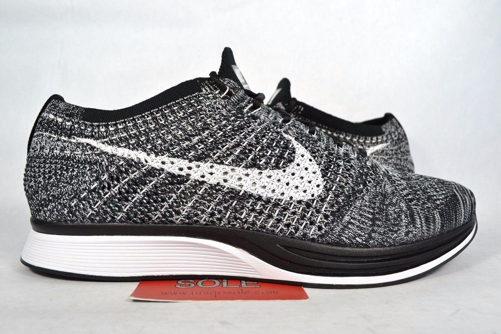 Nike Flyknit Racer OREO 2.0 noir blanc COOKIES & CREAM 526628-012 sz 9 Femme