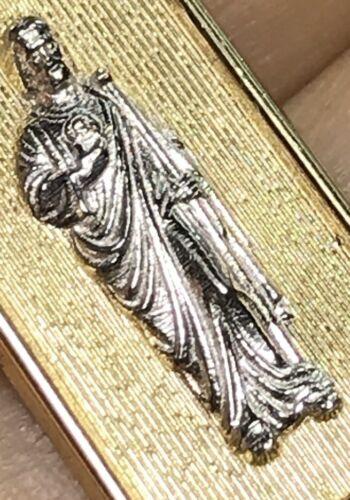 "Gold St Jude Saint Juda 14k Pendentif Jaune Blanc Charme 1.25/"" 2.5 G"