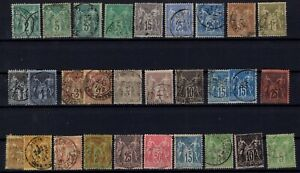 B137280-FRANCE-SAGE-TYPE-YEARS-1876-1898-USED-CLASSIC-LOT-CV-191