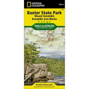 Details about National Geographic Maine Baxter State Park Trails  Illustrated Map 754