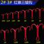 100pcs-Rouge-Hi-Acier-Carbone-peche-hamecons-Aiguises-Treble-Hooks-Tackle-pleine-taille miniature 9