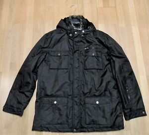 1287a18e6b0a Das Bild wird geladen TCM-Winterjacke-neu-und-ungetragen-schwarz-mit-Kapuze-