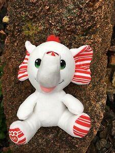 Build A Bear 8 Buddies Christmas White Elephant Stuffed Animal Toy
