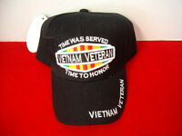 Vietnam Veteran Baseball Style Embroided Adjustable Hat (white Letters)