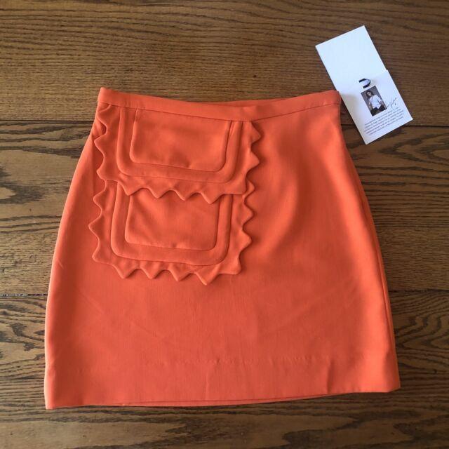 27f82b0790 Victoria Beckham For Target Women's Size XS Orange Mod Mini Skirt NWT