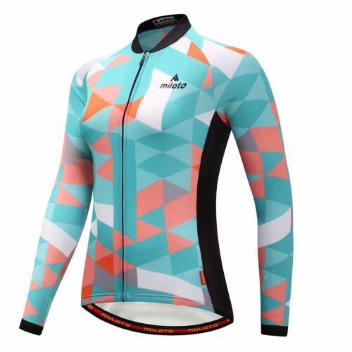 Winter Bike Clothing Women/'s Thermal Fleece Biking Jersey and Padded Pants Kit
