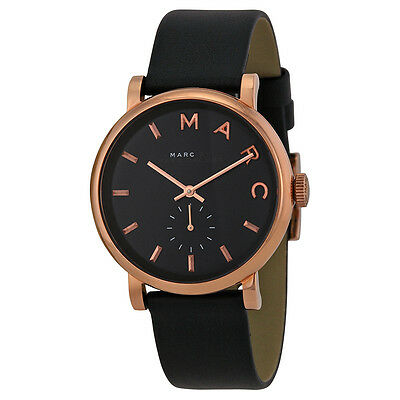 Marc by Marc Jacobs Baker Navy Dial Navy Leather Ladies Watch MBM1329