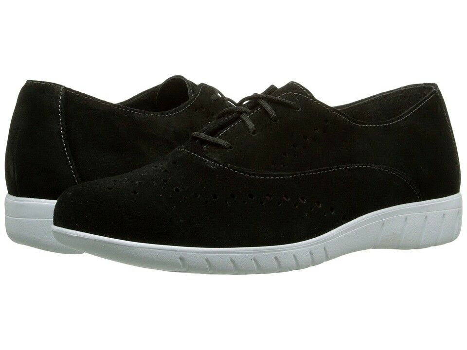 Munro 7345 Womens Black Suede Wellesley Oxford Sneakers Size 10 W