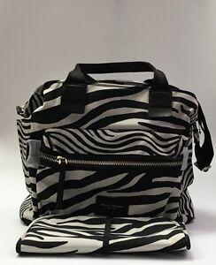 Marc Jacobs Zebra Print Black White Biker Baby Diaper Bag Tote