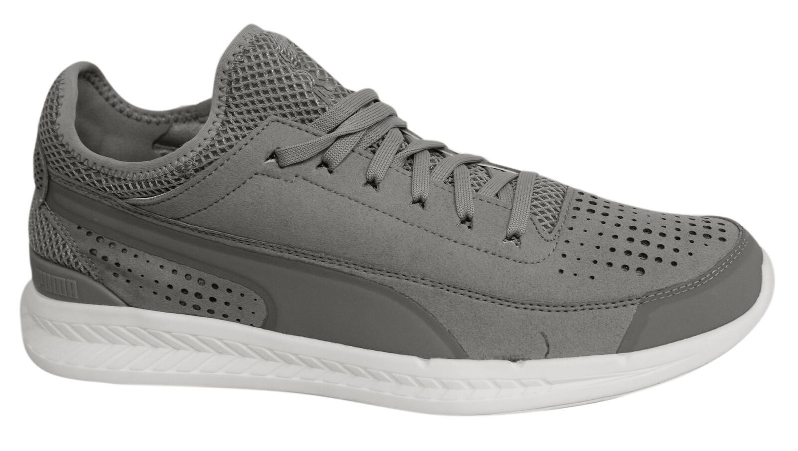 Puma Ignite Sock Lace Up Grey Synthetic Mens Trainers 360570 02 U21