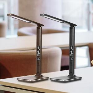 9W-LED-Tischlampe-Schreibtisch-Leuchte-Buero-dimmbar-Touch-Lese-Lampe-Nachttisch