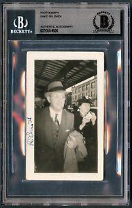 David O. Selznick signed autograph 2.5x4.5 Vintage 1940s Snapshot Photo BAS Slab