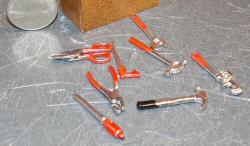 Dollhouse Miniature Metal Tools Set 8 pc 1:12 one inch scale F23 Dollys Gallery