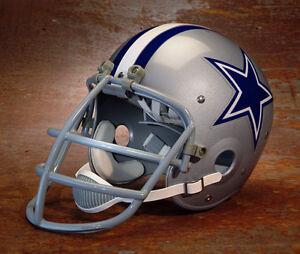 87298ff69c6 Image is loading Dallas-Cowboys-style-NFL-Vintage-Football-Helmet-BOB-