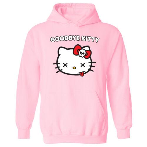 Haut femme adieu kitty hello chat Drôle Parodie Pull-over à capuche nouveau UK 12-20