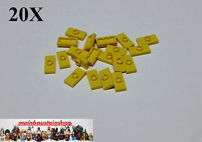 25x LEGO® Platte 1x2 mit 1 Noppe und Griffkante Konverter Jumper 15573 NEU Weiss