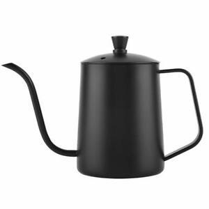 Stainless-Steel-Long-Narrow-Spout-Coffee-Pot-Gooseneck-Spout-Drip-Black-amp-Sliver