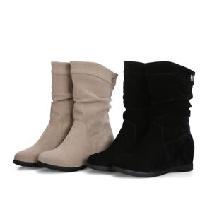 Ladies' Mid Calf Slouch Boots Suede