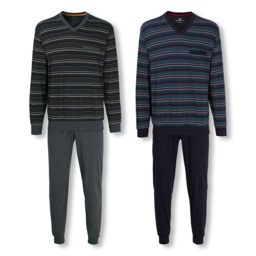 Götz Castello Uomo Pyjama Set SONNO TUTA manica lunga clima attivamente M L XL 2xl 3xl