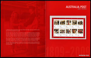 2009-Celebrating-200-Years-Sheetlet-Post-Office-Pack-Australia-Mint-Stamps