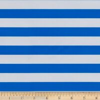 Blue White Stripe Fabric Oilcloth Fabric By The Yard Vinyl Fabric Home Decor