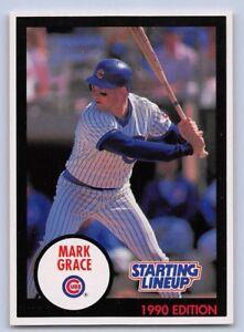 1990  MARK GRACE - Kenner Starting Lineup Card - CHICAGO CUBS - (BLUE)